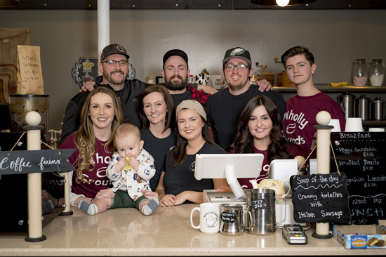Hamm Family, owners of Wholly Grounds Coffeehouse